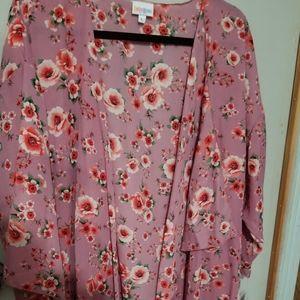 Lularoe Shirley Large Pink Floral